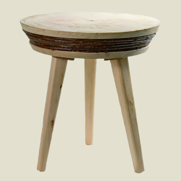 Side Table hout Brix 37cm - Roos Cadeaus